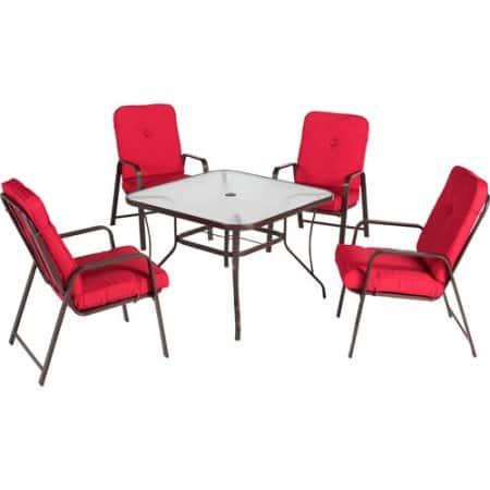 5-Piece Mainstays Lawson Ridge Patio Dining Set w/ Cushioned Chairs (Seats 4) for $149 & more at Walmart