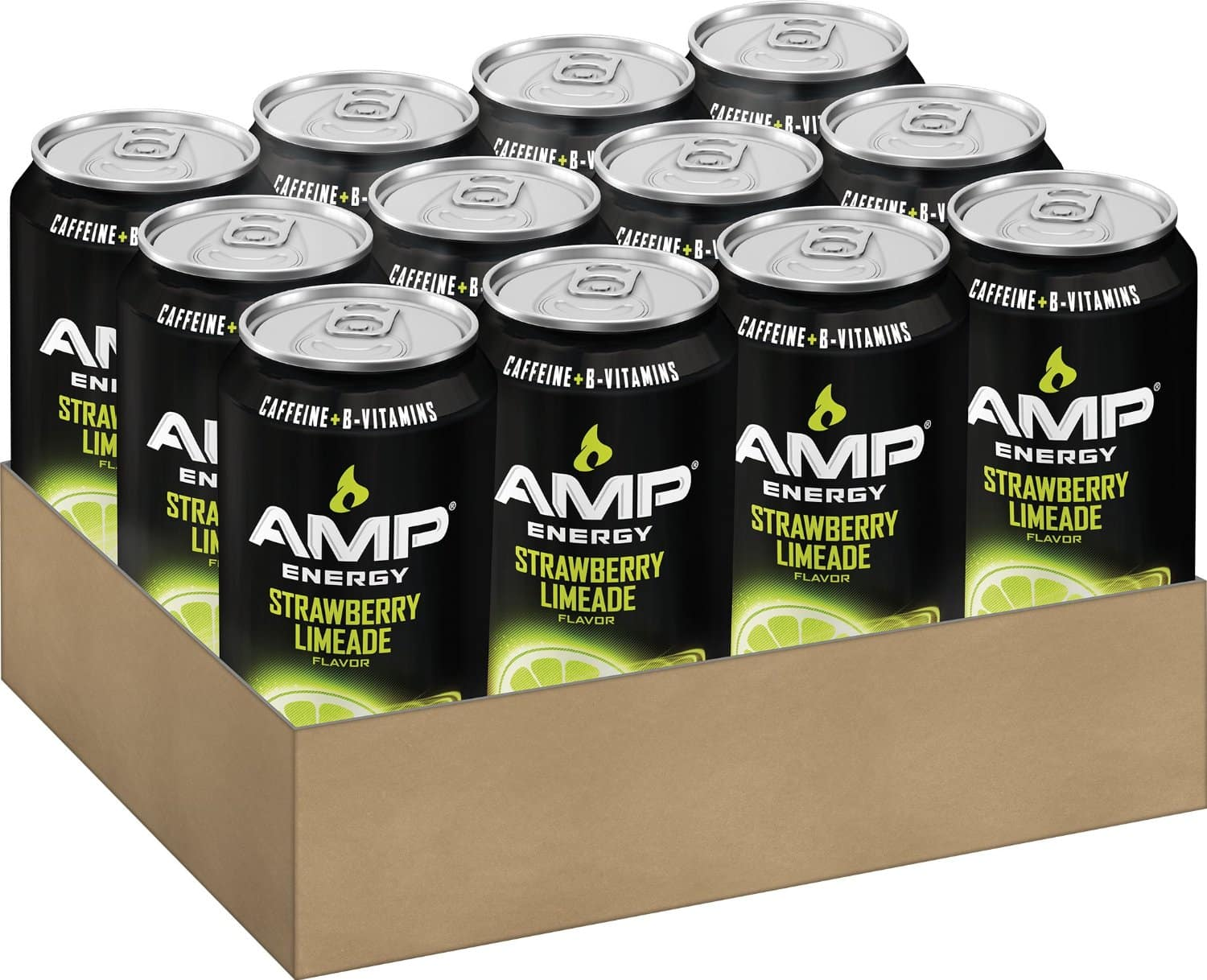 Amazon - AMP ENERGY, Strawberry Limeade, Caffeine, B Vitamins, 16 Ounce Cans (12 Count) - $9.60 (5% S&S) or $8.40 (15% S&S)