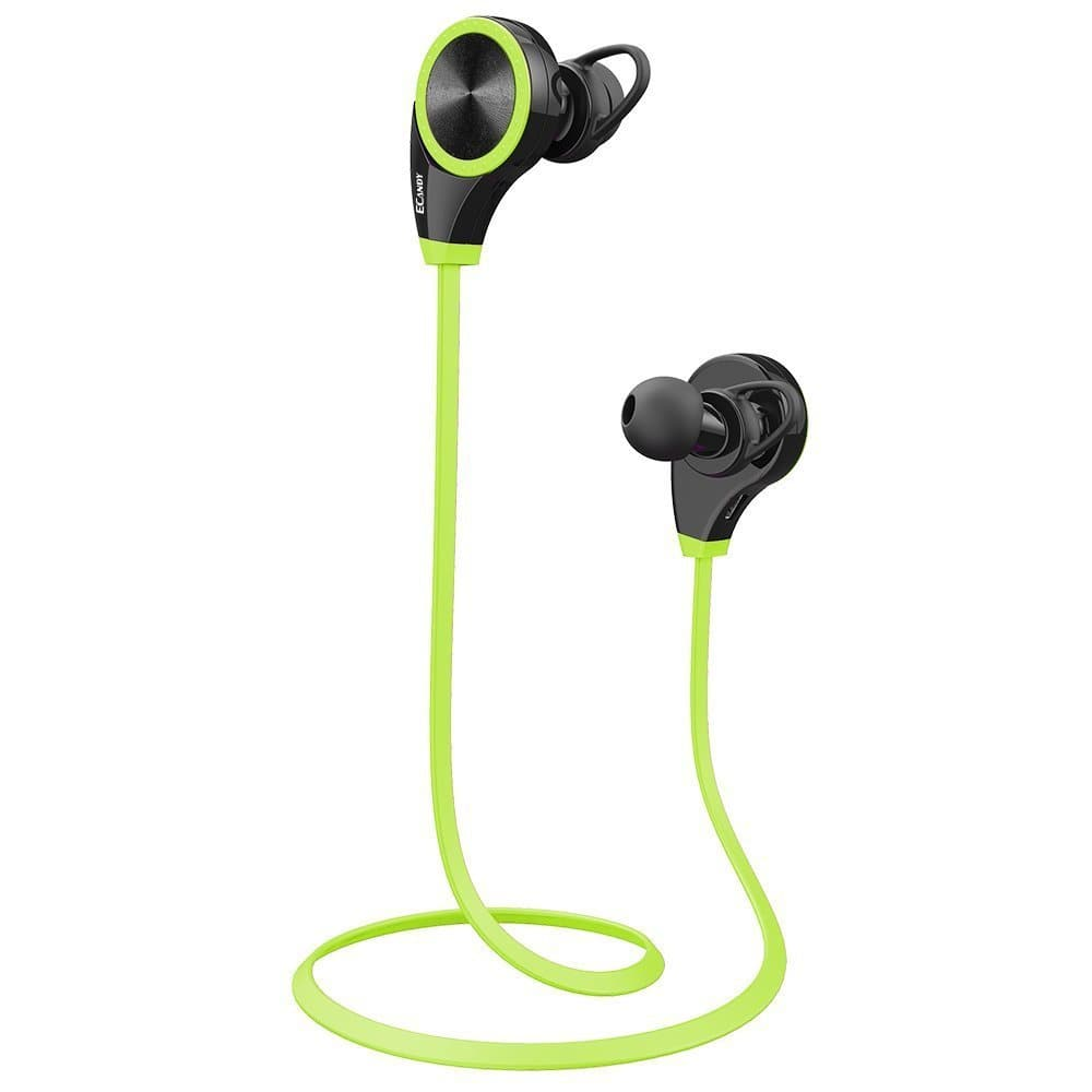 Ecandy Wireless Bluetooth Headphones with Mic for Running $8.99 & FREE Shipping