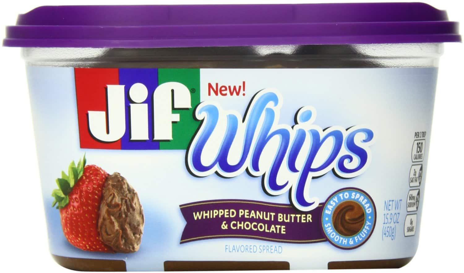 Jif Whipped Peanut Butter and Chocolate Flavored Spread $2.85 or Less S&S @ $2.54 15% 5+ Amazon S&S w/o Chocolate $2.67 or less