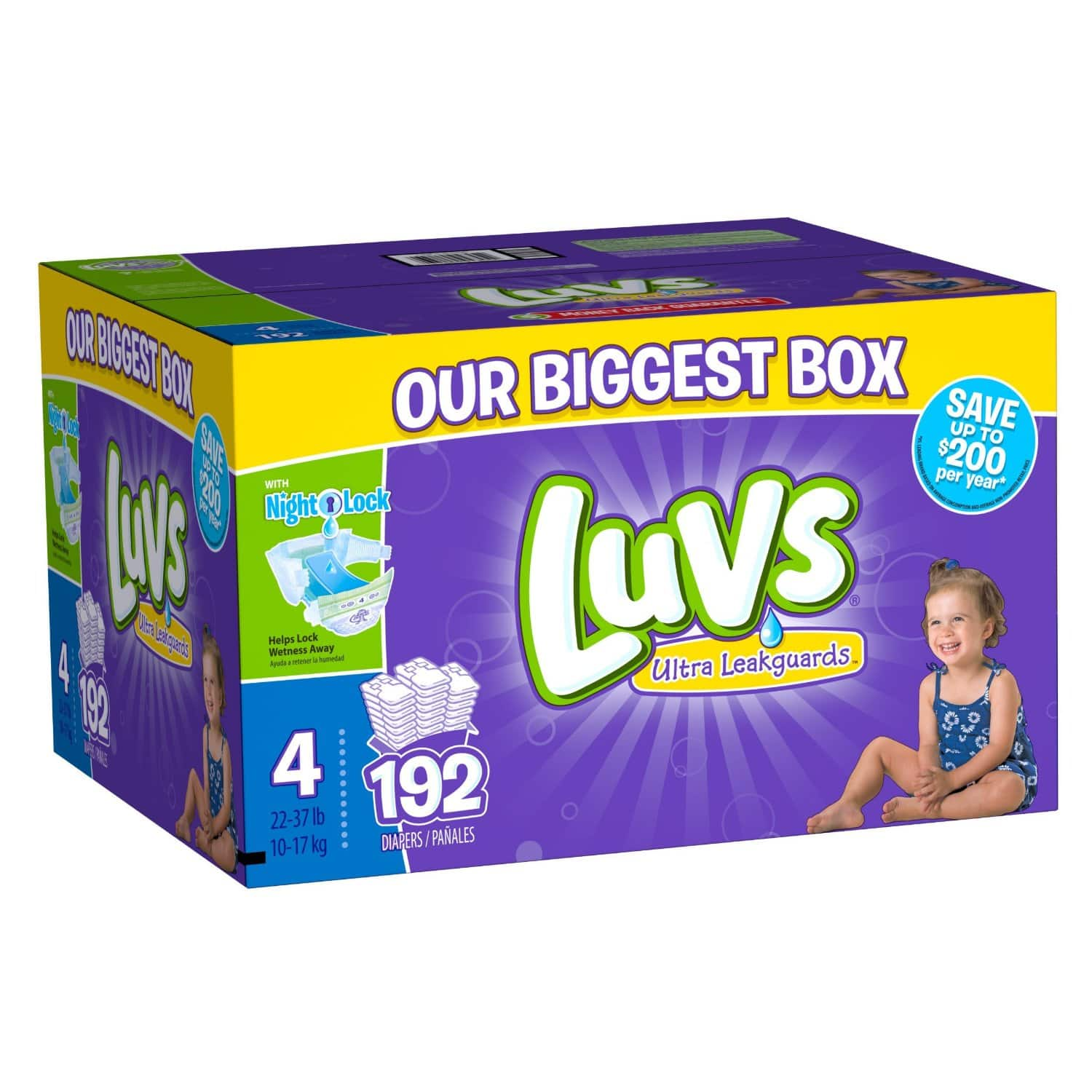 Luvs Diapers, Size 4, 192 Count at Amazon $23.13. Free Shipping with Prime