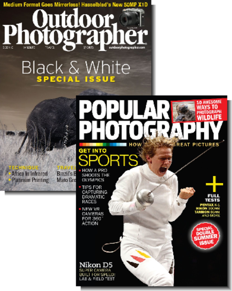 Popular Photography + Outdoor Photographer Magazines $7.99 for both
