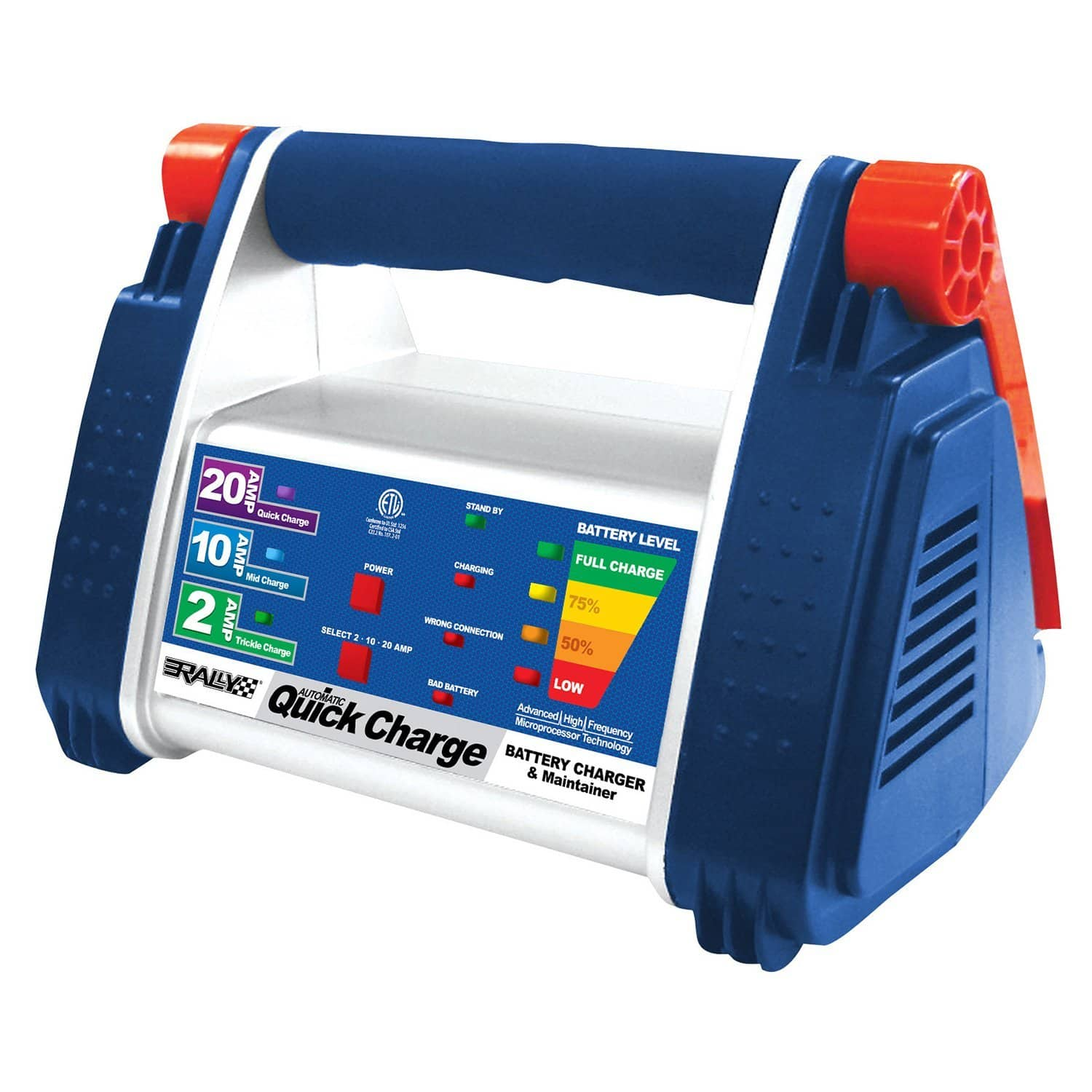 Rally Marine Grade 20 Amp Quick Battery Charger & Maintainer  $23 + Free Shipping