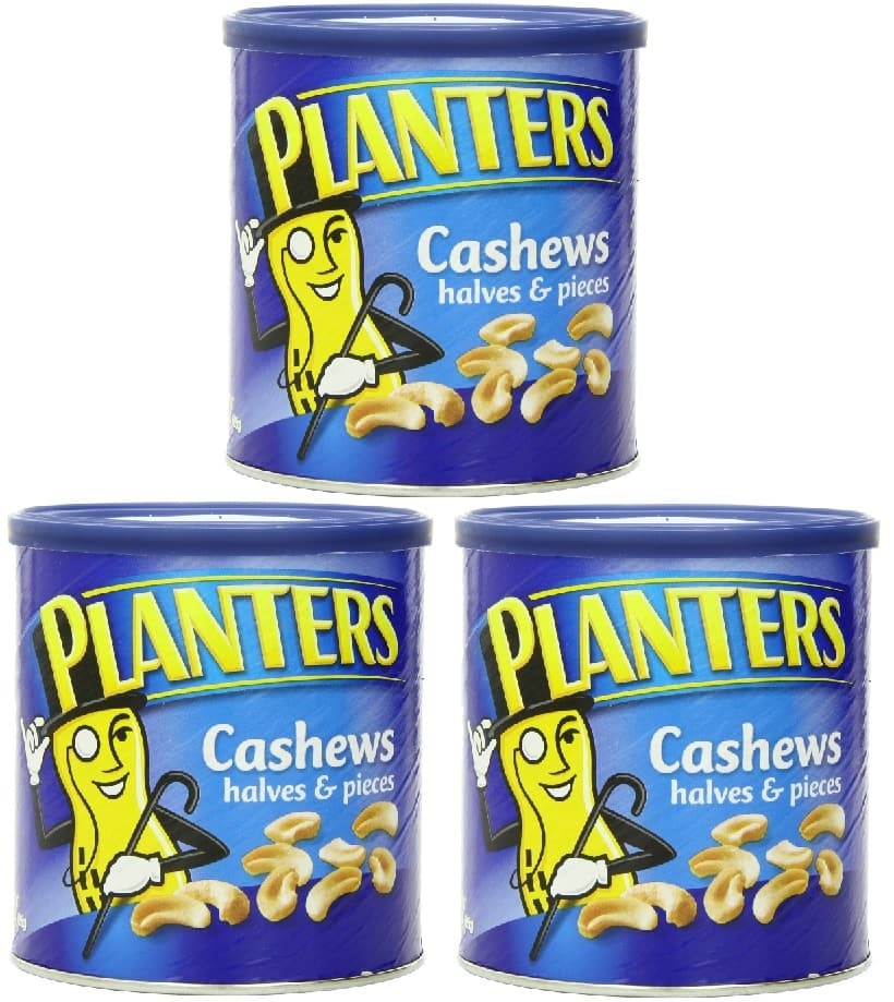 3-Pack Planters Cashew Halves & Pieces (14oz each)  $10.50 & More + Free Shipping
