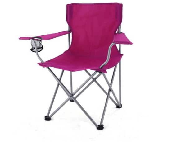 Ozark Trail Camping Tailgate Party Folding Chair (Raspberry) for $5