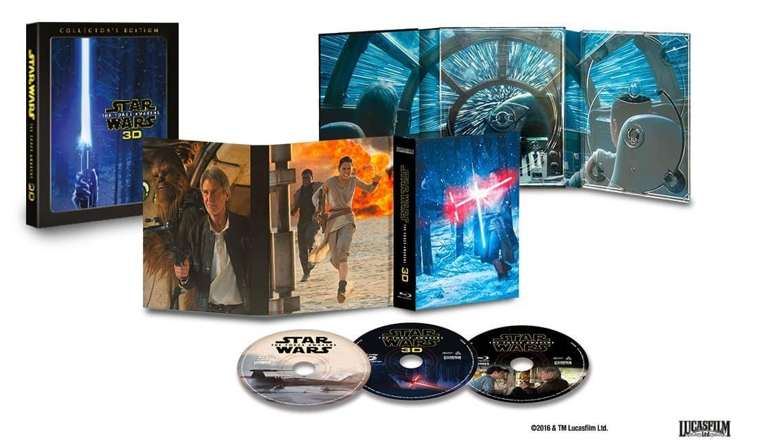 Star Wars: The Force Awakens Collector's Edition (3D Blu-ray, Region-Free)  $25.50