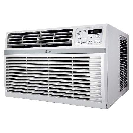 LG 8000 BTU 115V Window-Mounted Air Conditioner with Remote Control - White - LW8016ER $192.99