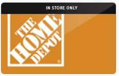 Extra 5% Off Already-Reduced Gift Cards: Home Depot (In Store Gift Card)  Up to 13.5% Off & More