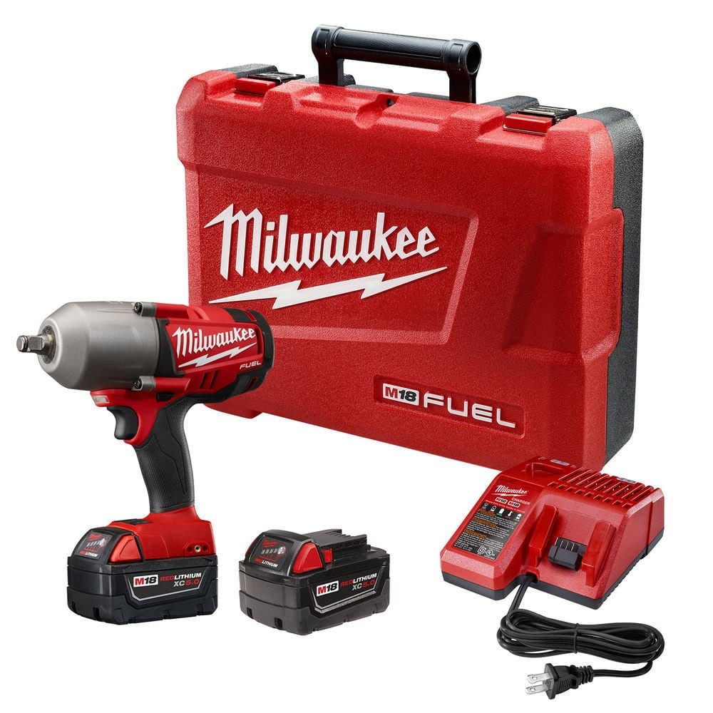 "Milwaukee M18 FUEL 1/2"" High Torque Impact Wrench Kit w/ Hog Ring 2763-22 New $284.99 !!! EBAY"