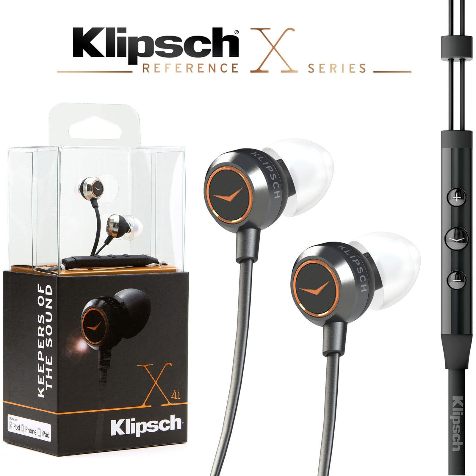 Klipsch Reference X4i In-Ear Headphones w/ In-Line iOS Remote & Mic  $35 + Free Shipping