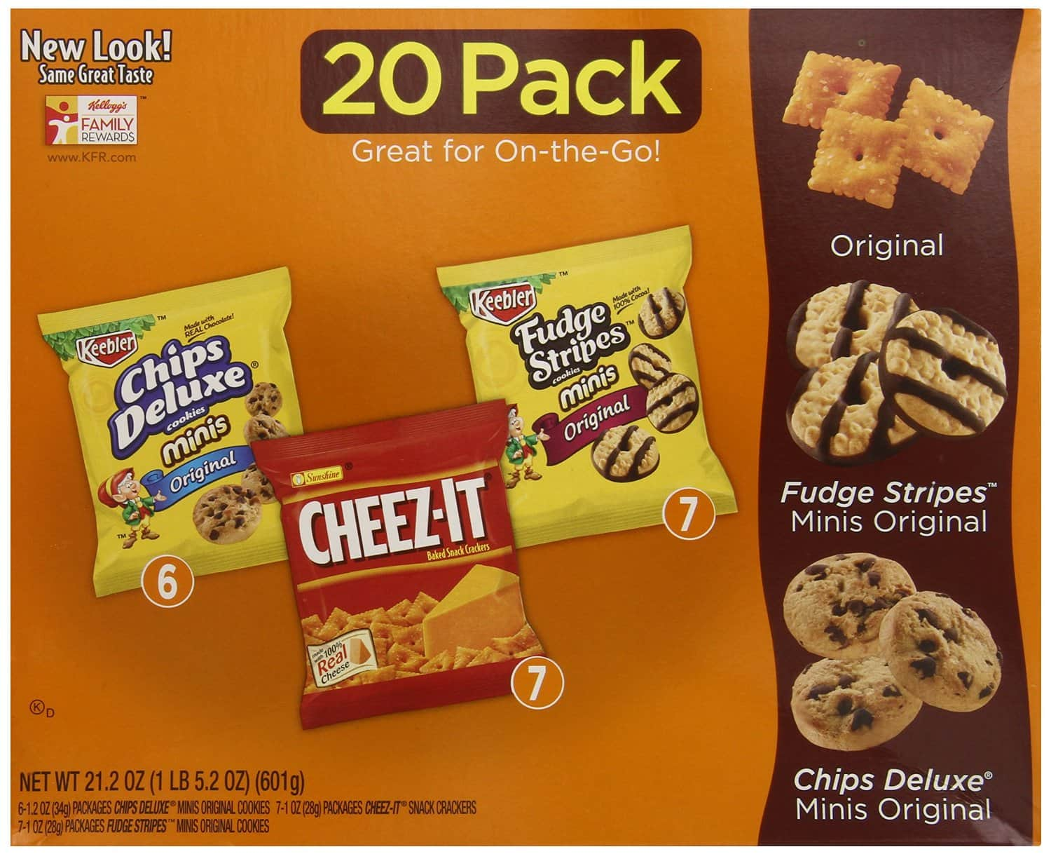 20-Pack Keebler Cookie & Cheez-It Variety Pack (21.2oz total)  $5.50 + Free Shipping