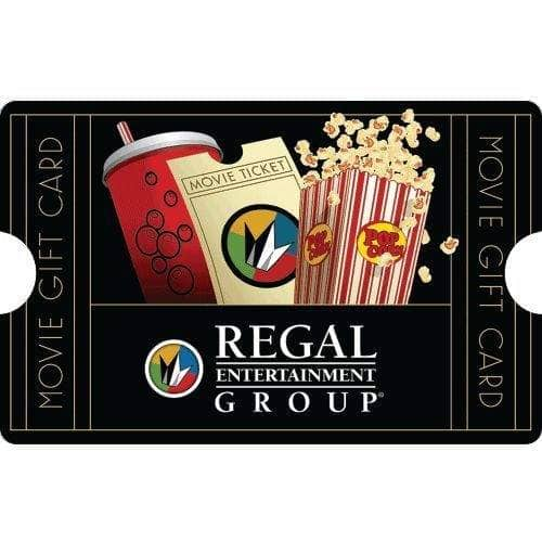 $50 Regal Entertainment Gift Card for only $40 - mail delivery
