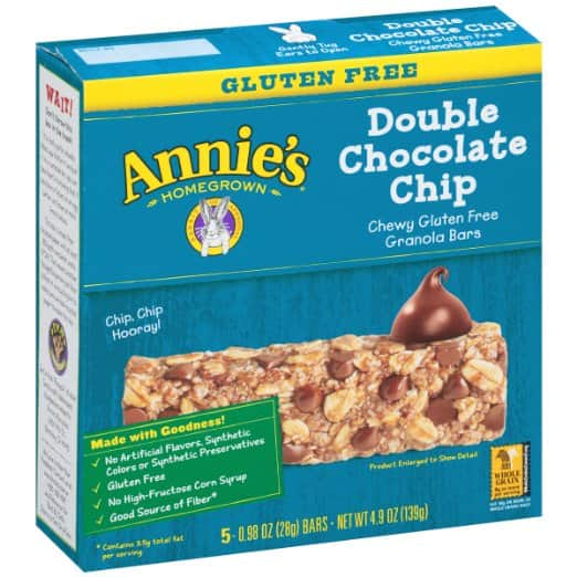 5-Ct Annie's Gluten Free Granola Bars (Double Choc Chip) $2.10 Amazon S&S w/ Coupon