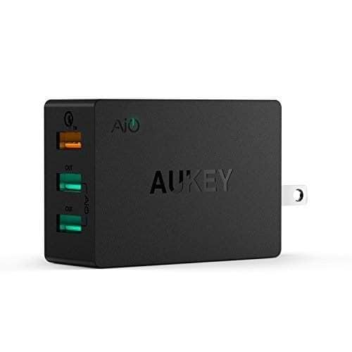 Aukey Quick Charge 2.0 42W 3-Port USB Wall Charger + 3.3' Micro USB Cable  $9