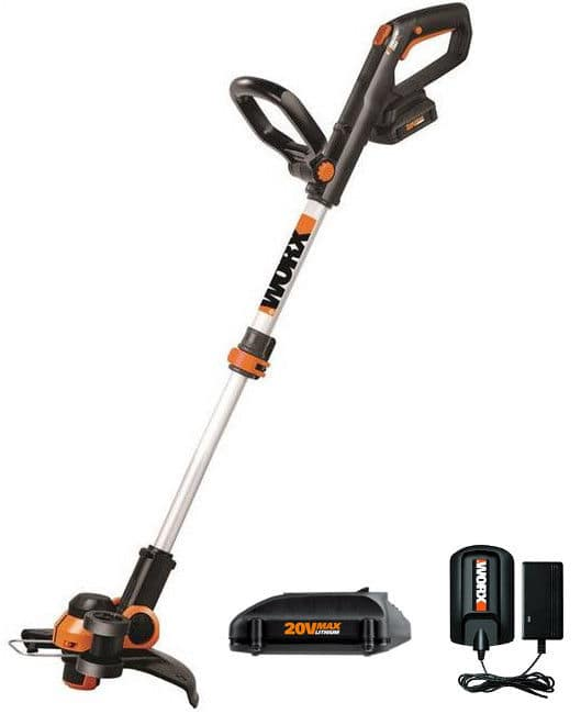WORX WG163 20V GT 3.0 Cordless String Trimmer & Edger w/ 2 Batteries (refurbished) for $44.99 with free shipping