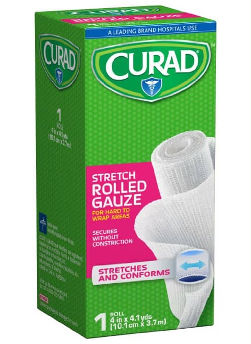 """Curad Rolled Gauze (4"""" x 4.1 Yards) $0.95 or Less + Free Shipping Amazon.com"""