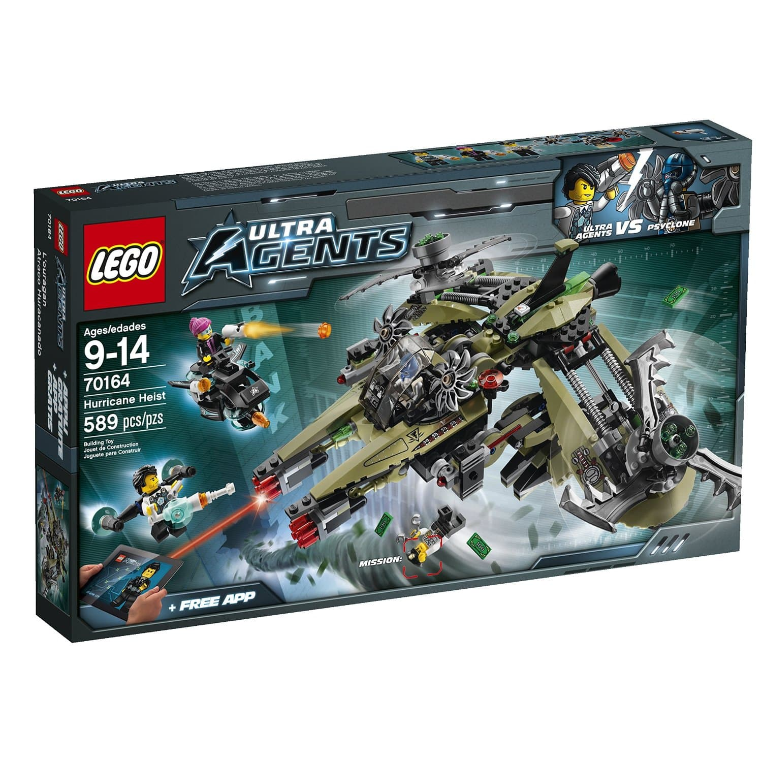 589-Piece LEGO Ultra Agents Hurricane Heist Set $29.99 + Free Shipping