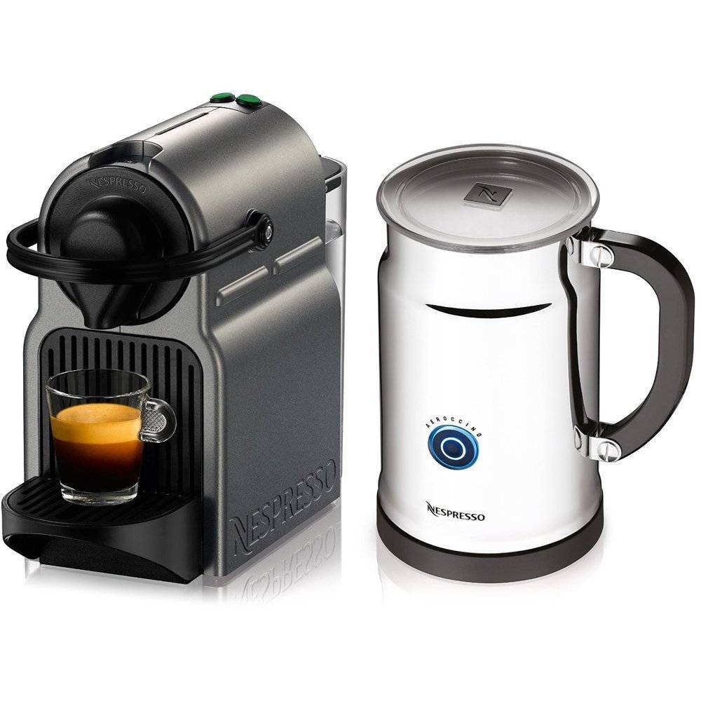 Nespresso Inissia Espresso Maker w/ Aeroccino Plus Milk Frother $95 + Free Shipping