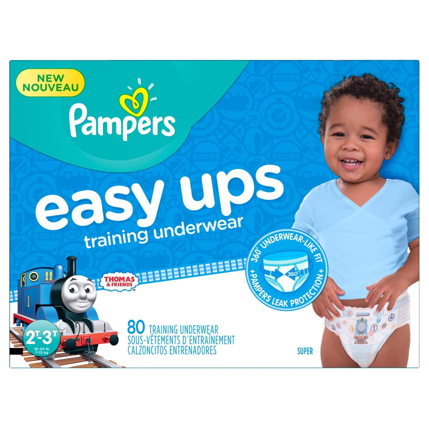 Prime Members (w/ Amazon Family): 80-Ct Boys' Pampers Easy Ups Training Underwear  $15 + Free Shipping