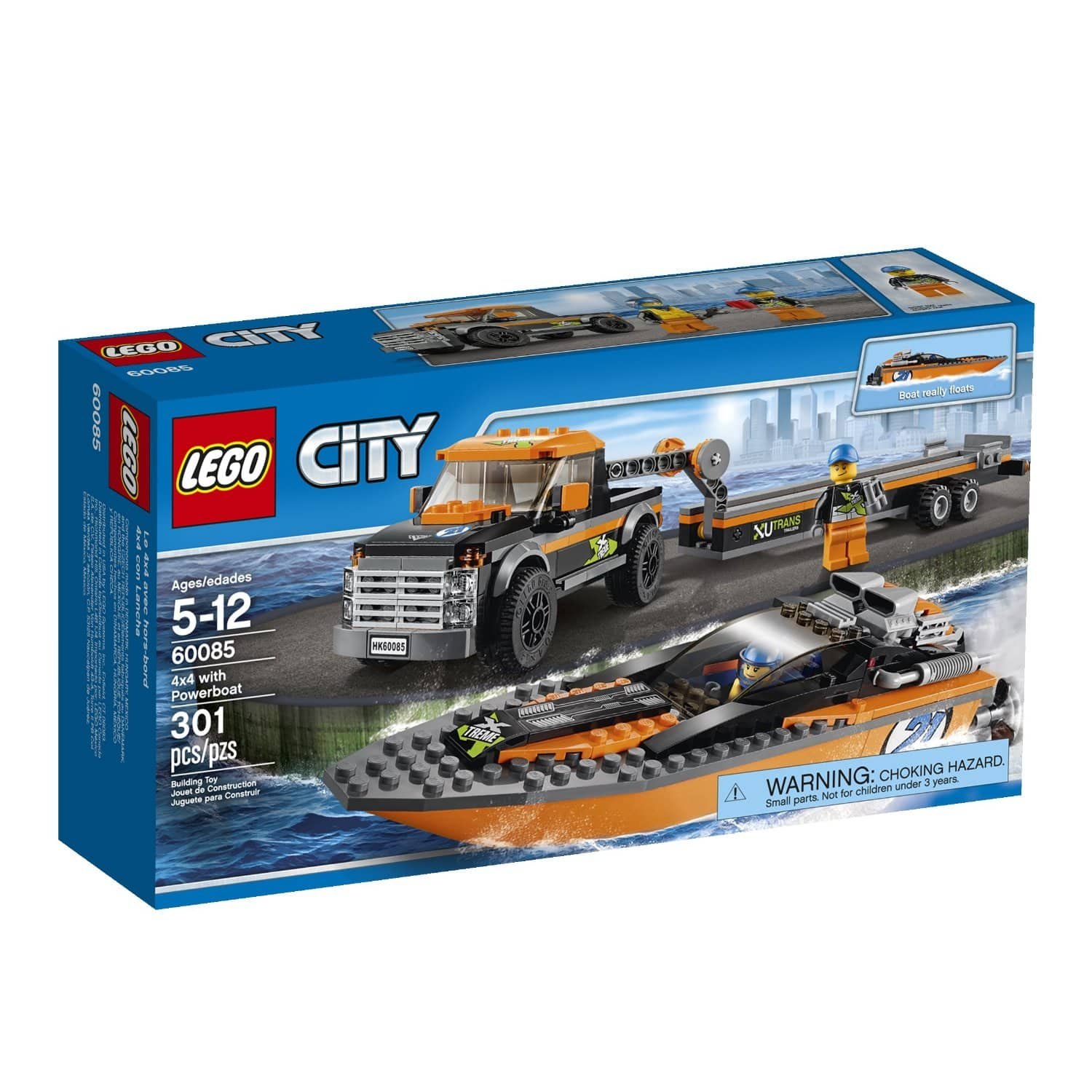 LEGO City: Great Vehicles 4x4 with Powerboat (301-Pieces)  $18 + Free Store Pickup