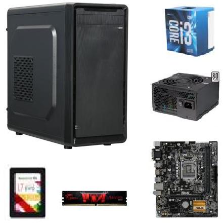 "Intel Core i3-6100 3.7GHz CPU, ASUS H110M-A/M.2 mATX MOBO, 8 GB G.SKILL Aegis DDR4 2133, 120GB Team L7 EVO 2.5"" SSD, EVGA 430W 80+ PSU & More for $259.99 AR + FS @ Newegg.com"