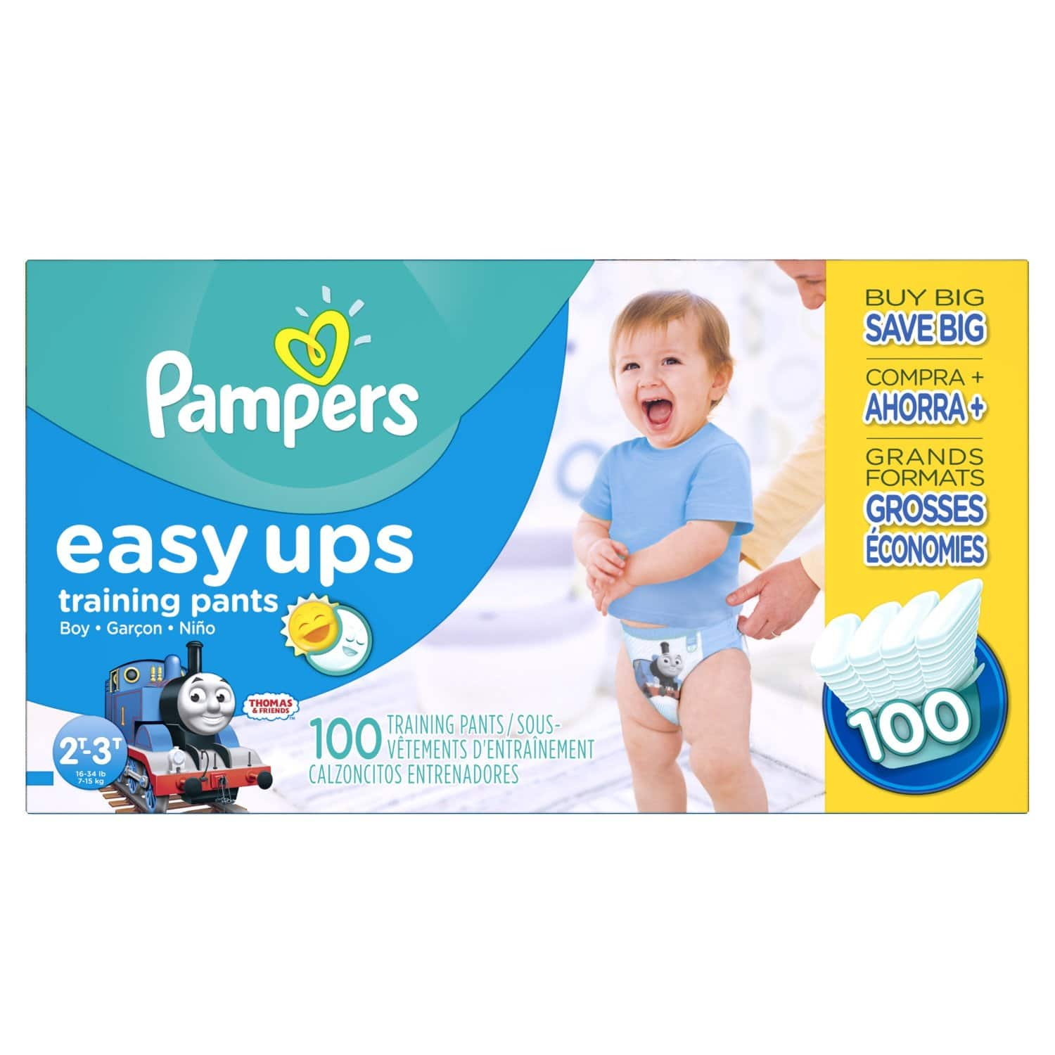 100ct Pampers Boys Easy Ups Training Underwear (2T-3T -- Size 4): $12.74 @ Amazon