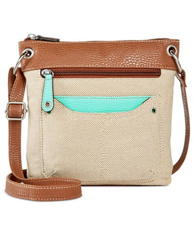 Style & Co. Straw Beach Bags (various) $9.60, Style & Co. Palmer Small Crossbody $8.80, More + $3 shipping