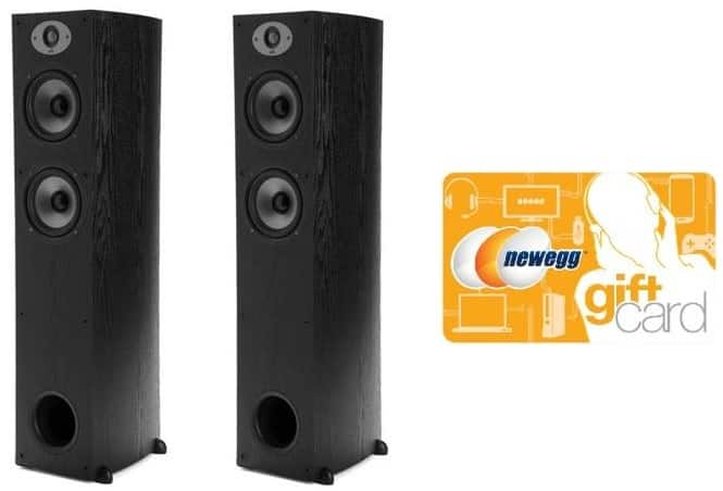 Polk Audio TSx 330T 2-Way Floorstanding Tower Speakers (pair) + $30 Newegg Giftcard $219 + free shipping