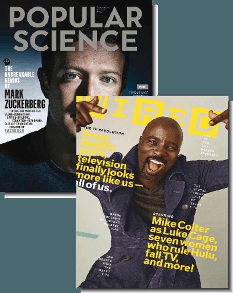 2-Magazine Bundle: Wired & Popular Science $7.99 per year
