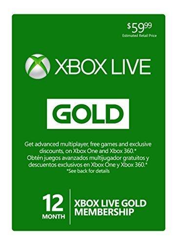 Rakuten - Xbox Live 12-Month Gold Membership Subscription Card - $37.99 + FS, get 5% back in rakuten super points