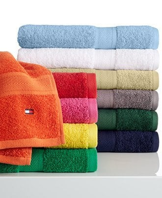 Tommy Hilfiger All American 100% Cotton Bath Towel $4.24 + free store pickup at Macys