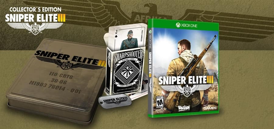 Sniper Elite III: Collector's Edition w/ LE Ammo Tin Box (PS4 or Xbox One) $19.99 + Free In-Store Pickup