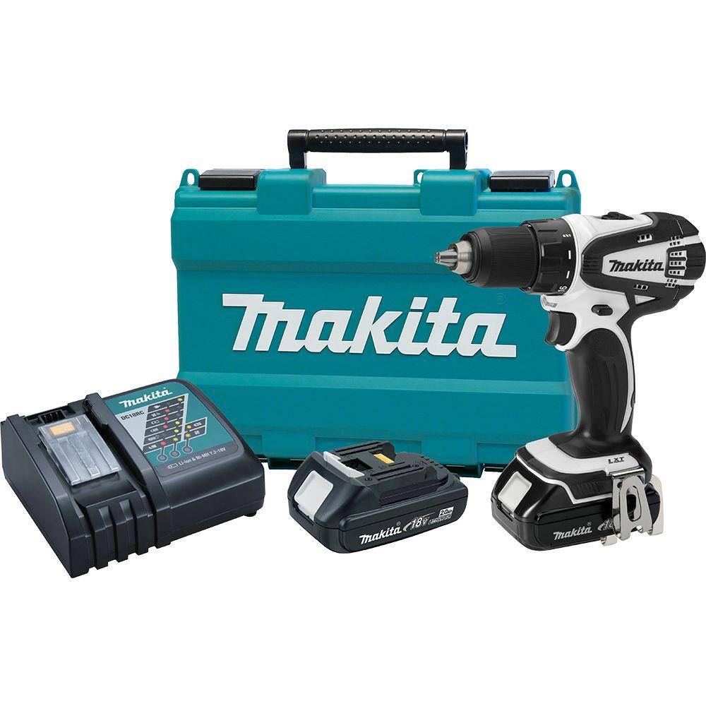 """Makita 18-Volt Compact Lithium-Ion 1/2"""" Cordless Driver-Drill Kit $119 with free shipping"""