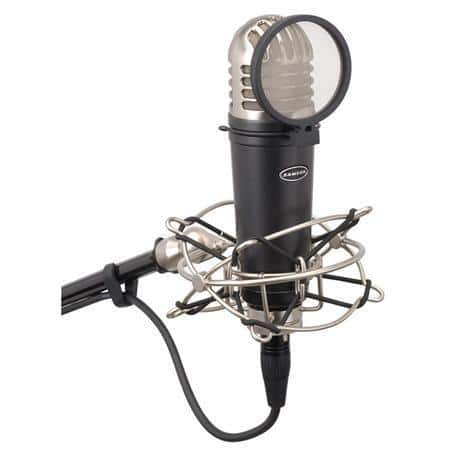 "Samson MTR101A 1"" Diaphragm Studio Condenser Microphone with Shockmount and Pop Filter $50 + free shipping"