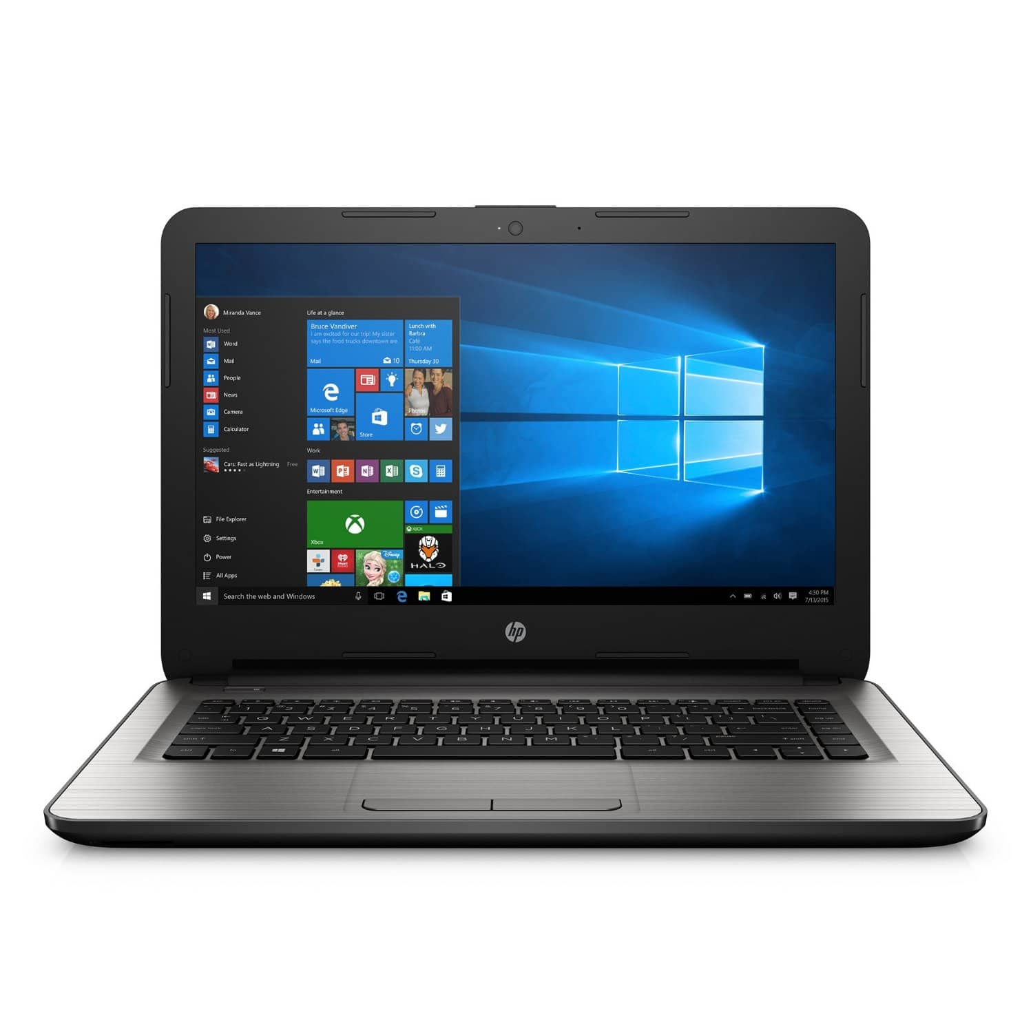 """HP 14-an013nr 14"""" 1080P IPS, AMD E2-7110, 4GB Ram, 32GB eMMC, WiFi AC, Win10 Home @ $200 with F/S"""