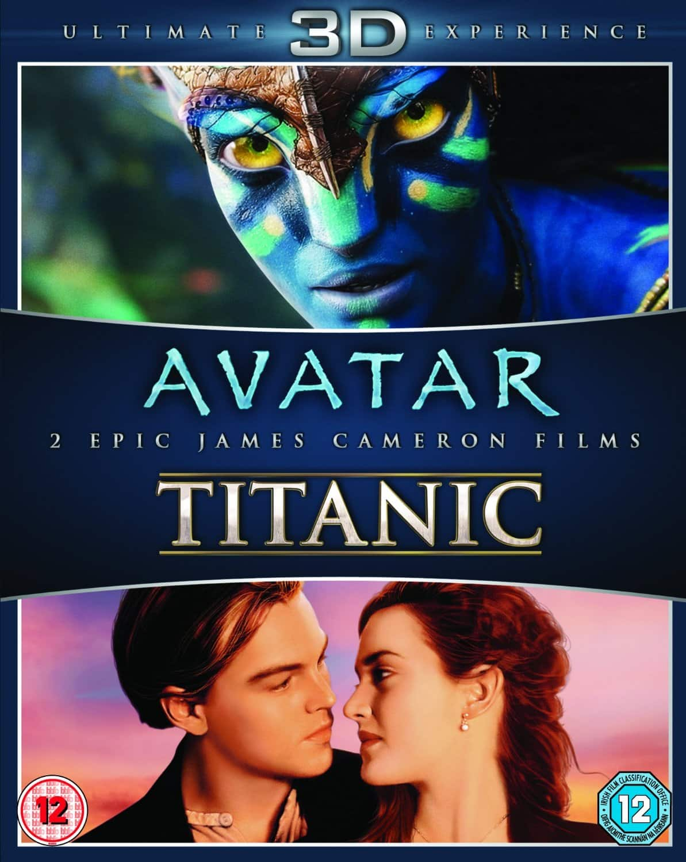 James Cameron's Avatar / Titanic (Region-Free 3D + Blu-ray)  $19