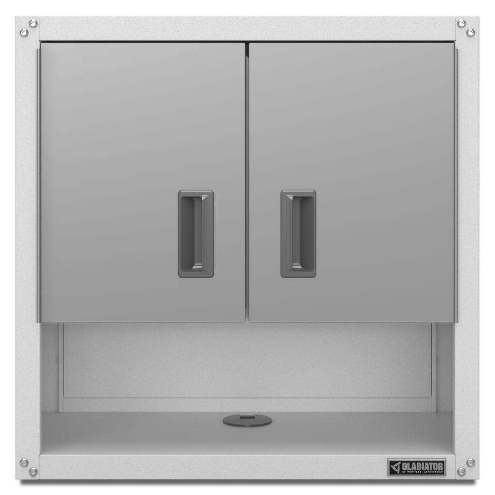 "Up to 40% off Garage Storage: Gladiator Ready to Assemble 28"" H x 28"" W x 12"" D Steel 2-Door Garage Wall Cabinet with Shelf $84.99 + free shipping & more"