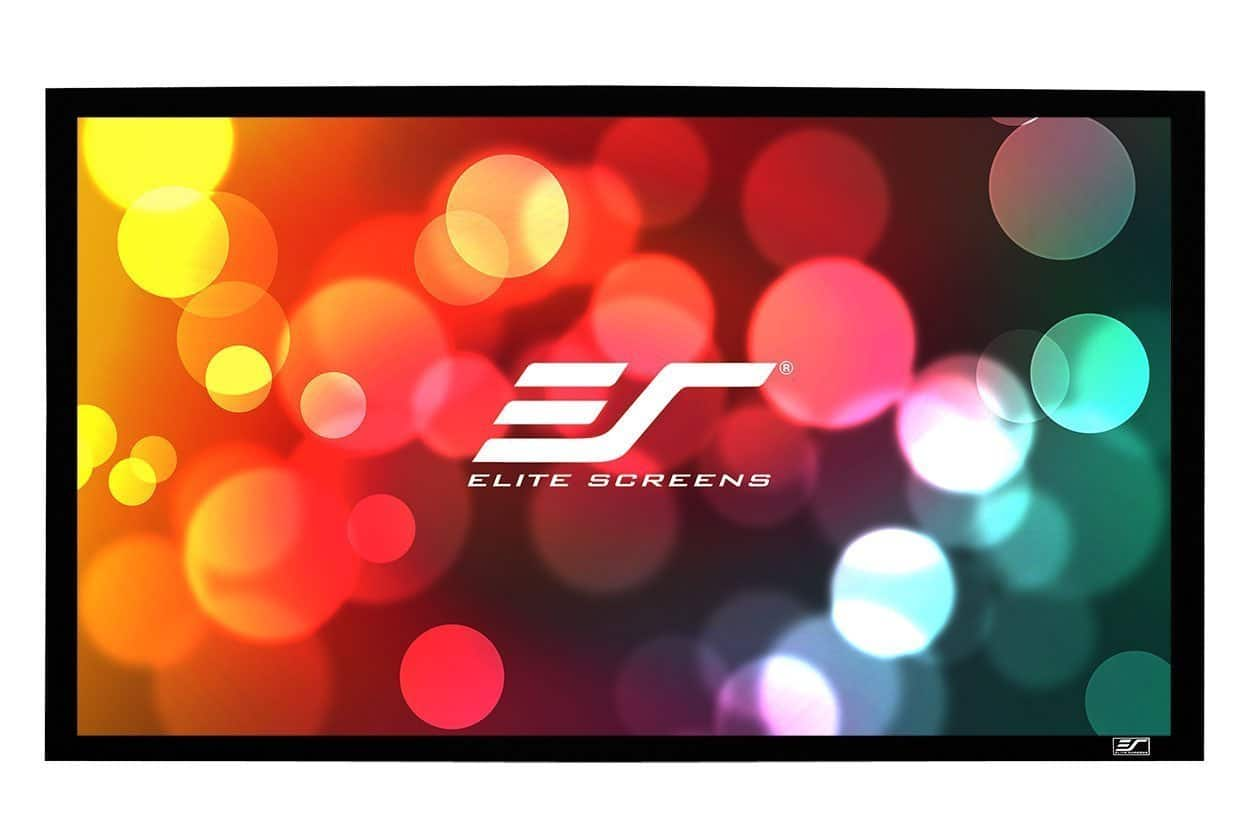 Amazon $139.99 Elite Screens Sable Frame B2 Series 135-inch Fixed Frame Home Theater Projection Projector Screen