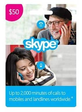 $50 Skype Prepaid Credit (Digital Delivery) for $33