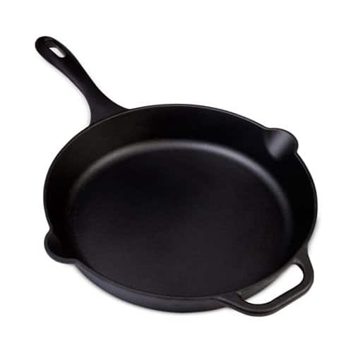 "Victoria 12"" Cast Iron Skillet or Victoria 10"" Cast Iron Deep Grill Pan $15 each + free store pickup at Macys"