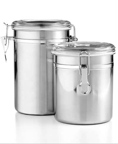 Set of 2 Stainless Steel Food Storage Canisters by Tools of the Trade $7 at Macy's