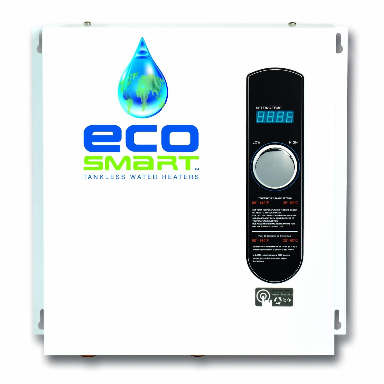 EcoSmart Eco 27 Electric 240v 27kw Tankless Water Heater $336 + Free Shipping via Amazon
