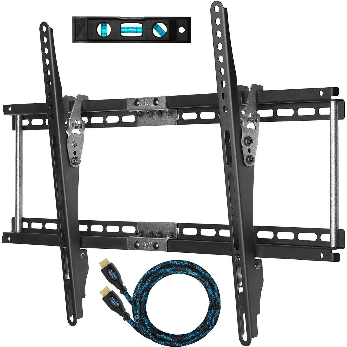 Cheetah wall mount bracket for 20 75 hdtvs 10 braided hdmi deal image fandeluxe Choice Image