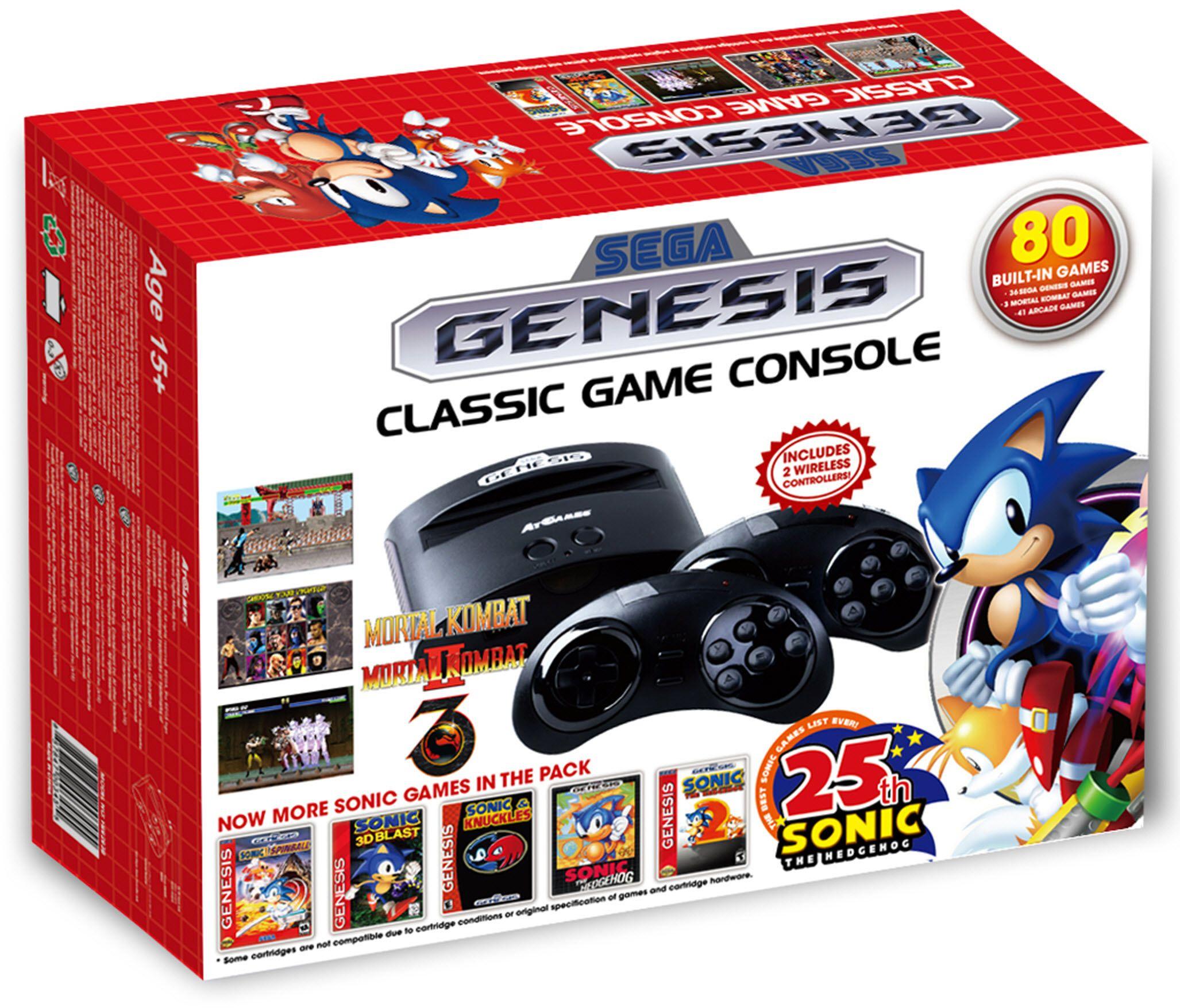 Sega genesis classic game console 2016 edition w 80 - Sega genesis classic game console games ...