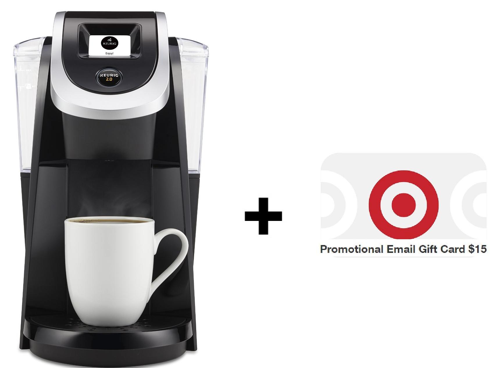 Coffee Makers: Keurig 2.0 K200 Coffee Brewing System + USD 15 Target eGift Card - Slickdeals.net