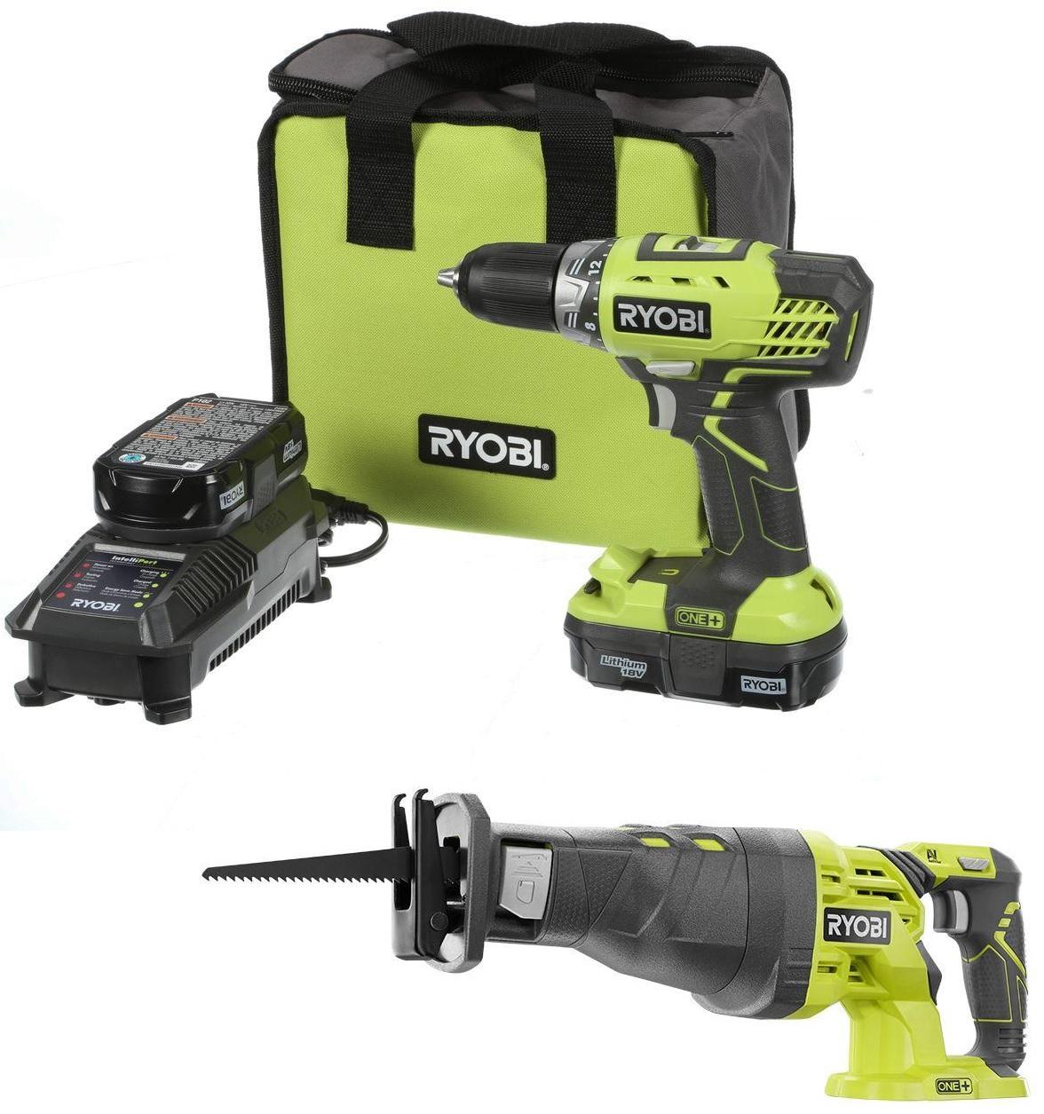Ryobi ONE+ Drill/Driver w/ 2 Batteries + Ryobi ONE+ Reciprocating Saw  $79 + Free Store Pickup