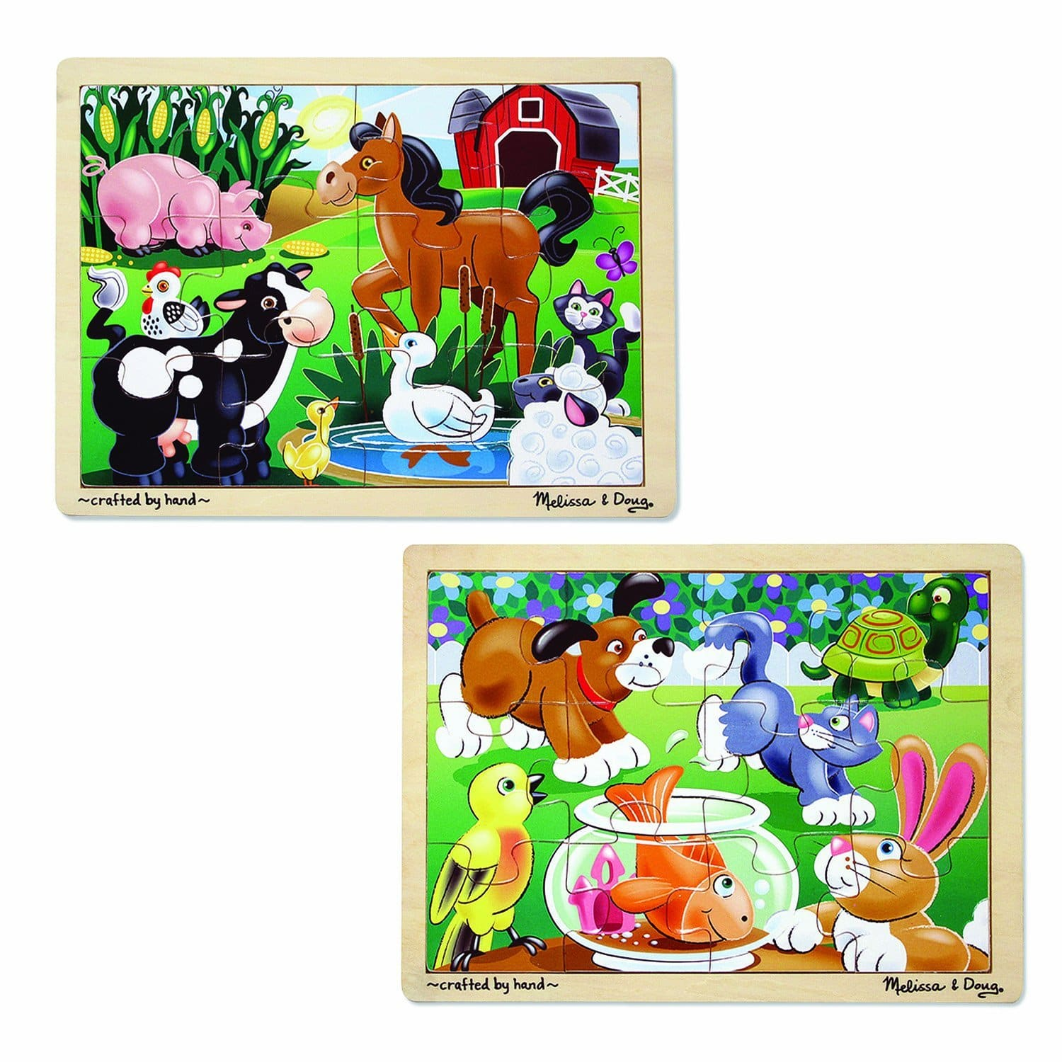 Set of 2 Melissa & Doug Jigsaw Puzzles: On the Farm & Playful Pets for $7 + free shipping *Kohl's Cardholders Deal*