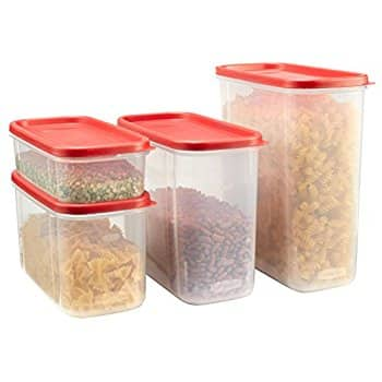 8-Piece Rubbermaid Modular Canisters, Food Storage Containers (4 Containers + 4 Lids) for $12.92 at Amazon