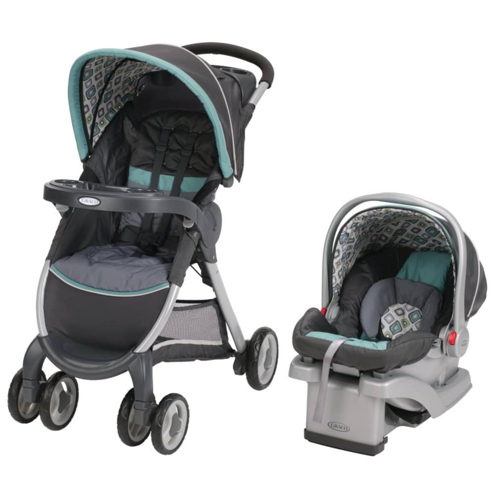 Graco FastAction Fold Click Connect Travel System Stroller (Stroller + Car Seat) for $98.55 + Free Shipping at Amazon