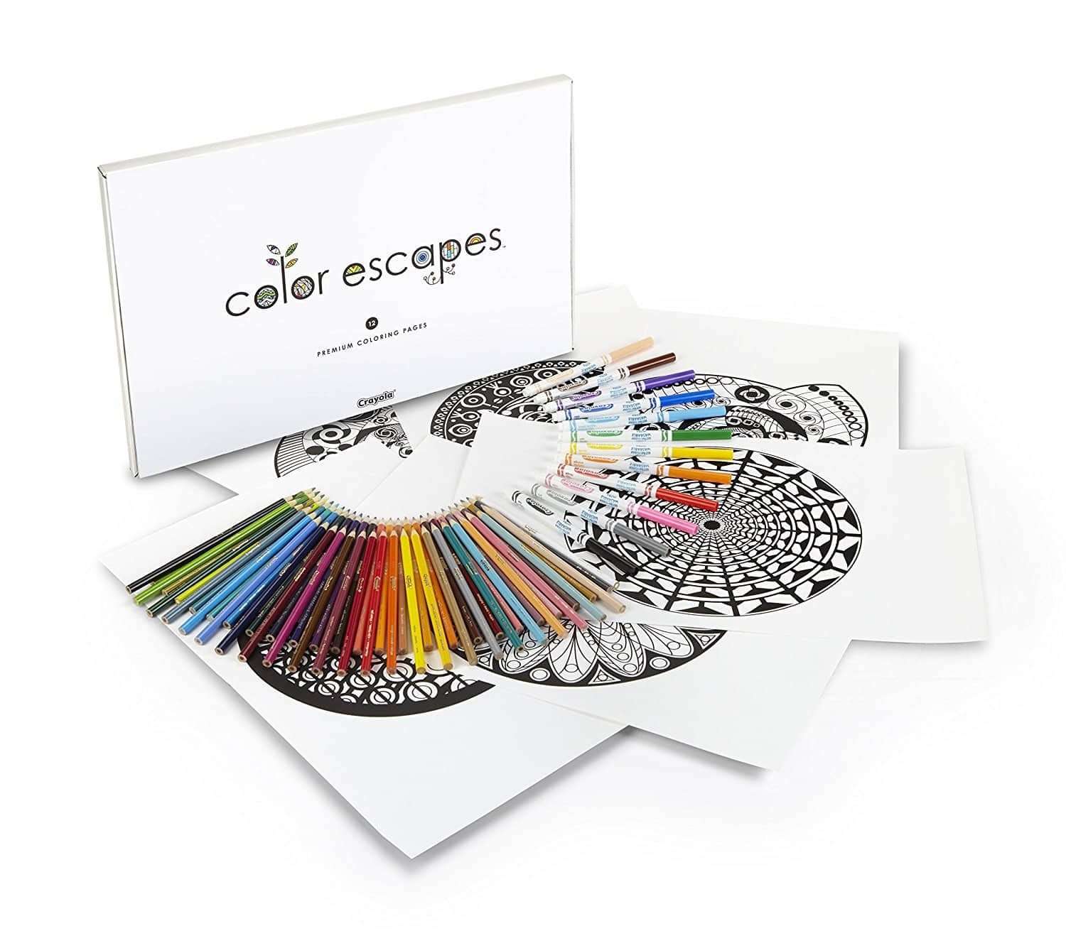 Crayola Color Escapes Coloring Pages & Pencil Kit Kaleidoscopes Edition (50 Colored Pencils + 12 Markers + 12 Coloring Pages) for $5.50 at Amazon *Add-On Item*
